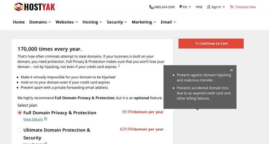 privacy and protection domain registration