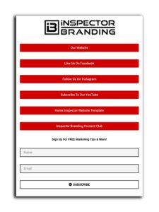home inspector social media marketing link in bio